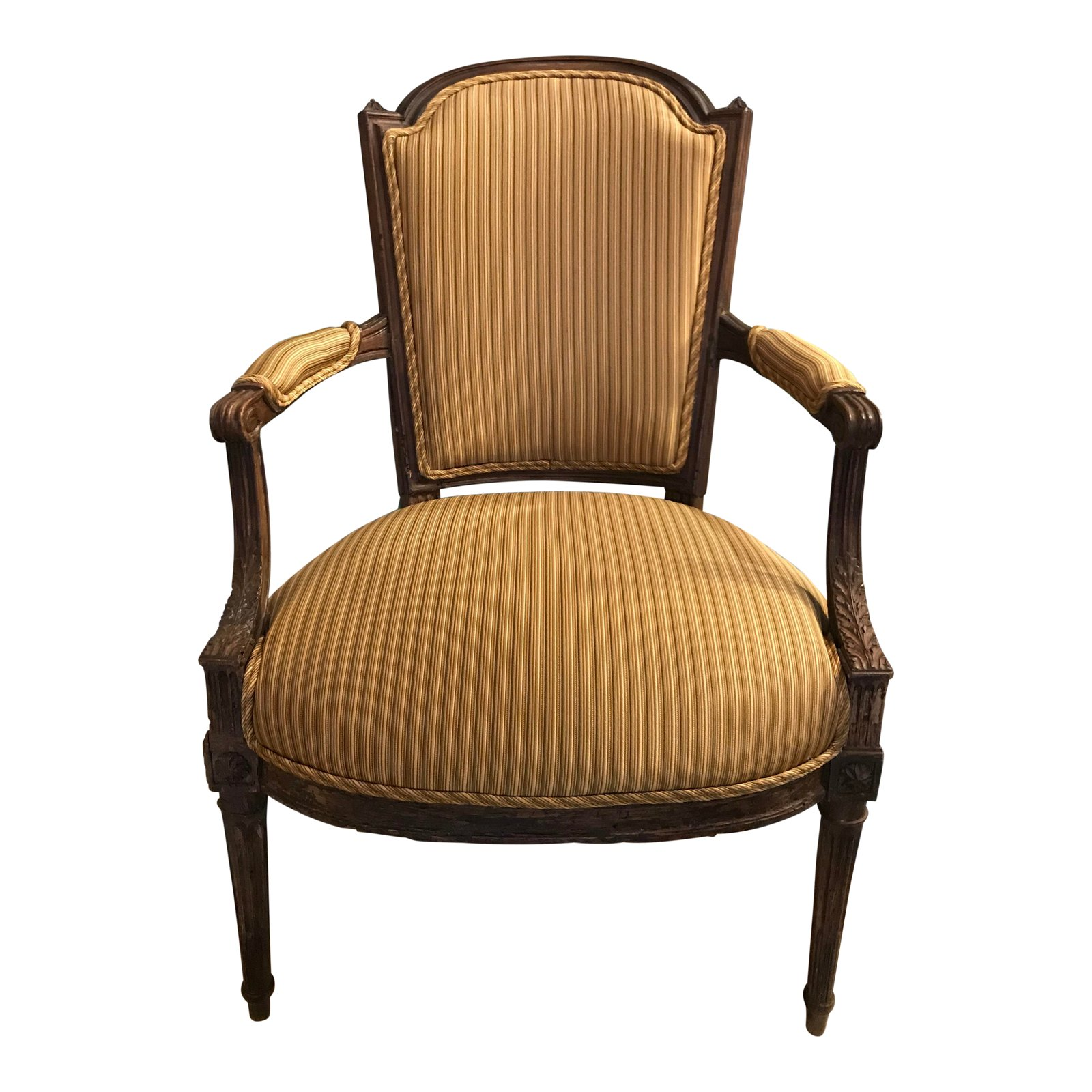 19th C French Louis Xv Fauteuil Arm Chair